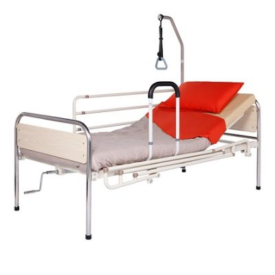 Patient bed for home care, with one crank