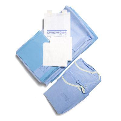Hip surgery drapes set
